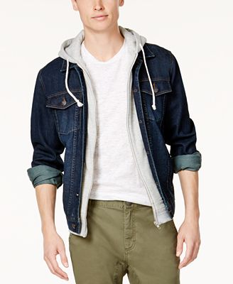 American Rag Men's Hooded Denim Jacket, Created for Macy's - Coats ...