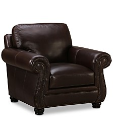 "Roselake 41"" Leather Armchair, Created for Macy's"