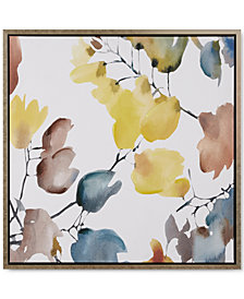 Madison Park Signature Autumn Watercolor Leaves Framed Hand-Embellished Canvas Print