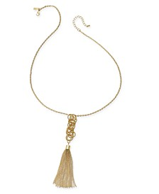 INC Long Tassel Pendant Necklace, Created for Macy's