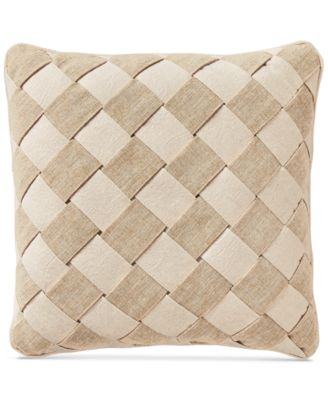 "Camille Basketweave 16"" Square Decorative Pillow"