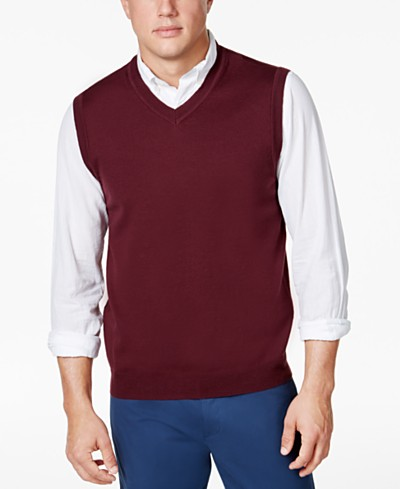 Club Room Men's Sweater Vest, Created for Macy's