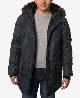 Buffalo David Bitton Men's Faux Fur Hooded Camo Parka - Coats ...