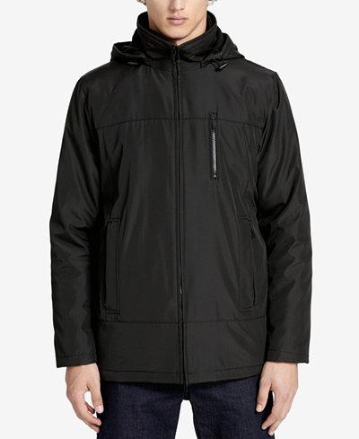 Calvin Klein Men's Big & Tall Hooded Fleece Lined Coat - Coats ...
