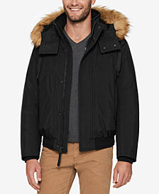 Marc New York Men's Bomber Jacket with Fleece Inset and Faux-Fur Hood
