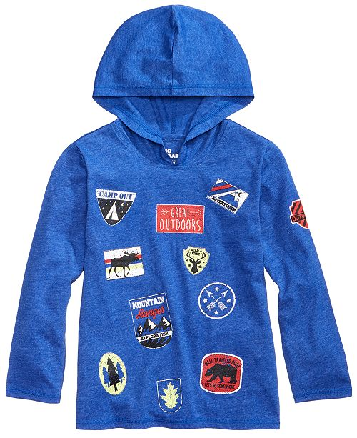 Epic Threads Wilderness Patch Hoodie, Little Boys, Created for Macy's