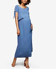 Maternity Tiered Nursing Maxi Dress