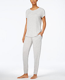 Alfani Scoop-Neck Top & Jogger Pajama Pants Sleep Separates, Created for Macy's