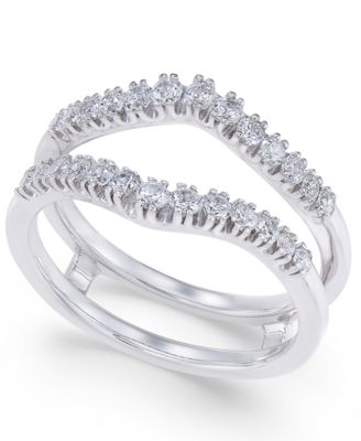 Diamond Curved Solitaire Enhancer Ring Guard (3/8 ct. t.w.) in 14k White or 14K Gold