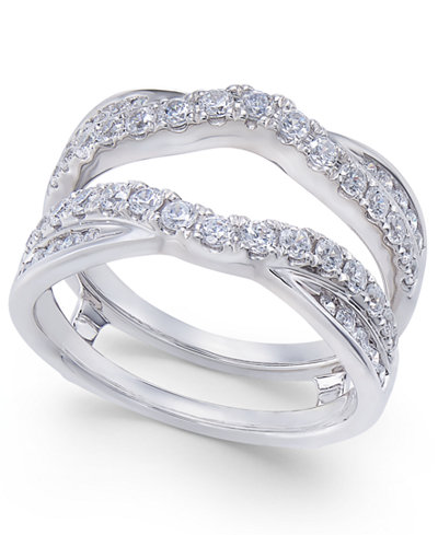 Diamond Curved Overlapped Solitaire Enhancer Ring Guard 1
