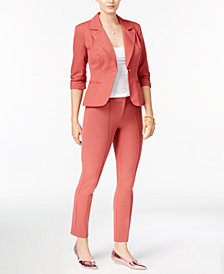 XOXO Juniors' Ruched-Sleeve Blazer & Skinny Pants