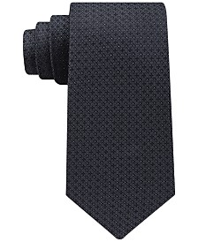 Calvin Klein Men's Filetto Medallion Silk Tie