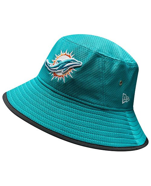 4c74a2fde0dfe New Era Miami Dolphins Training Bucket Hat   Reviews - Sports Fan ...