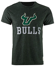 Retro Brand Men's South Florida Bulls Retro Mock Twist Team Logo T-Shirt
