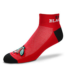 For Bare Feet Chicago Blackhawks The Cuff Ankle Socks