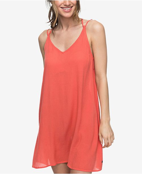 Roxy Juniors' Strappy-Back Slip Dress