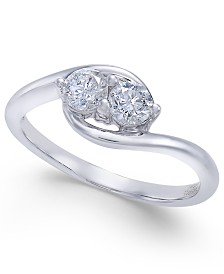 Diamond Two Souls-One Love Twist Ring (1/2 ct. t.w.) in 14k White Gold