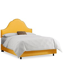 Jenny Queen Nail Button Bed, Quick Ship