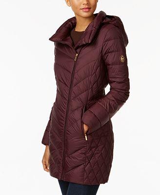 MICHAEL Michael Kors Asymmetrical Packable Down Puffer Coat, A ...