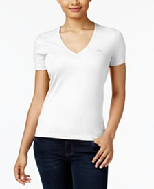 Lacoste Cotton V-Neck T-Shirt