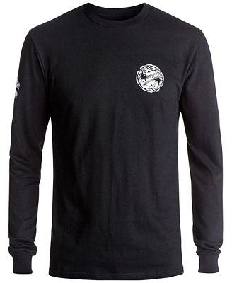 Quiksilver Men's Tribe-Tribe Long-Sleeve T-Shirt - T-Shirts - Men ...