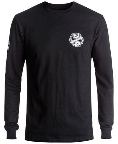 Quiksilver Men's Tribe-Tribe Long-Sleeve T-Shirt - T-Shirts - Men ...