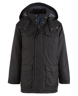 Calvin Klein Hooded Military Jacket, Little Boys