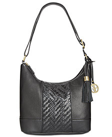 Giani Bernini Leather Double-Zip Hobo, Created for Macy's