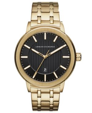 AX Armani Exchange Men's Maddox Gold-Tone Stainless Steel Bracelet Watch 46mm thumbnail