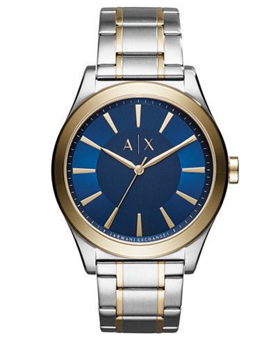 A|X Armani Exchange Men's Nico Two-Tone Stainless Steel Bracelet Watch 44mm