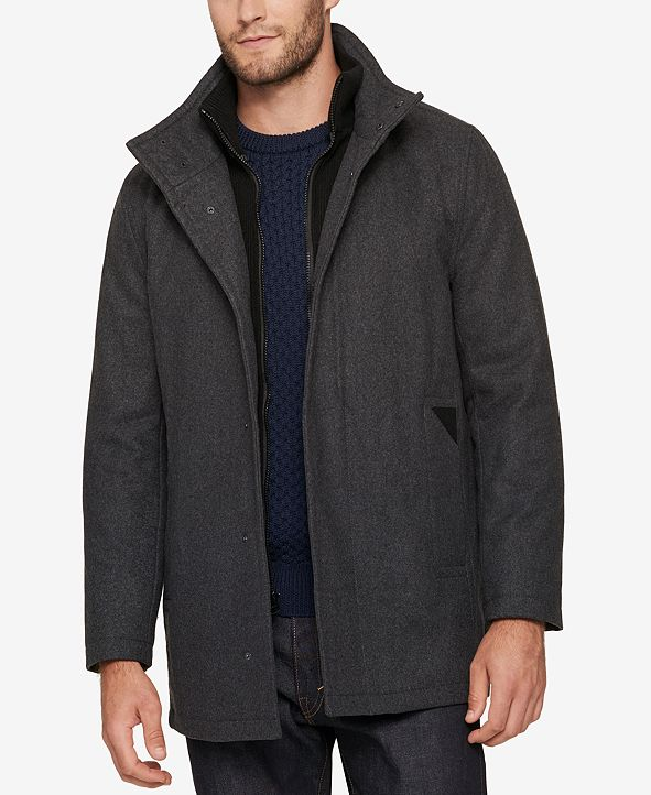 Marc New York Men's Car Coat with Knit Inset