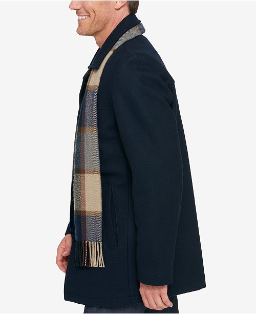 b0979ea6b7eb2 Tommy Hilfiger Melton Wool Walking Coat with Scarf   Reviews - Coats ...