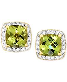 Peridot 3 Ct T W Diamond 1 6