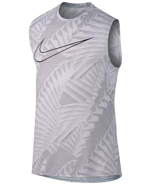 a66239a889780 Nike Men s Breathe Printed Running Tank Top   Reviews - T-Shirts ...