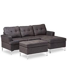"Riley 83"" 3-Pc. Sectional Sofa with Ottoman Set"