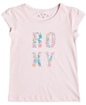 Roxy Rain or Shine Floral Logo TShirt Little Girls (46X)