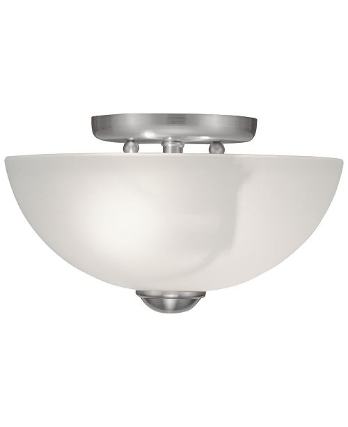 "Livex Somerset 11"" Semi Flush Light"