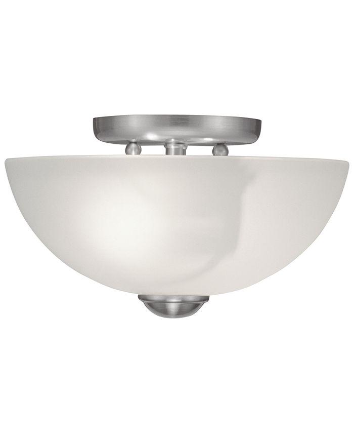 "Livex - Somerset 11"" Semi Flush Light"