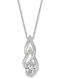 Silver-Tone Cubic Zirconia Pendant Necklace, Created for Macy's