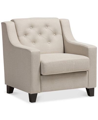 Arcadia Button-Tufted Chair, Quick Ship