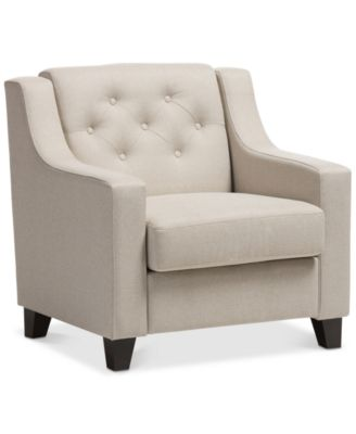 ... Furniture Arcadia Button Tufted Chair, Quick Ship ...