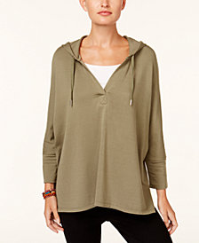 Style & Co Oversized Dolman-Sleeve Hoodie, Created for Macy's
