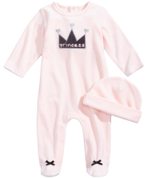 First Impressions 2Pc Hat  Princess Footed Coverall Set Baby Girls (024 months) Created for Macys