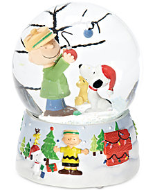 Roman Snoopy & Woodstock Christmas Musical Snow Globe