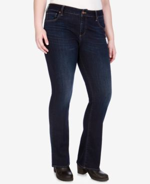 LUCKY BRAND Trendy Plus Size & Petite Plus Ginger Bootcut Jeans in Twilight Blue