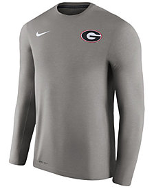 Nike Men's Georgia Bulldogs Dri-Fit Touch Longsleeve T-Shirt