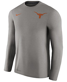 Nike Men's Texas Longhorns Dri-Fit Touch Longsleeve T-Shirt