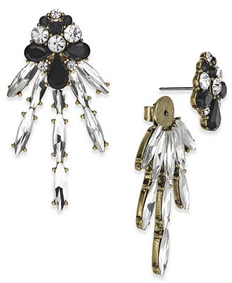 Anna Sui x I.N.C. Gold-Tone Crystal Dragonfly Earring Jackets, Created for Macy's
