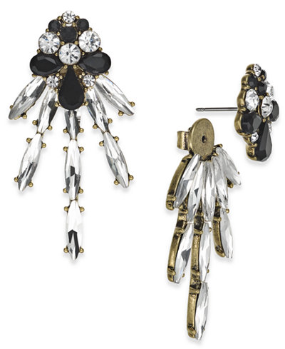 Anna Sui x INC International Concepts Gold-Tone Crystal Dragonfly Earring Jackets, Created for Macy's