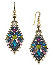 Anna Sui x INC International Concepts Gold-Tone Multi-Crystal Drop Earrings, Created for Macy's